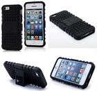 Black HEAVY DUTY TOUGH SHOCKPROOF WITH STAND HARD CASE COVER FOR iPhone5 5S TZJK