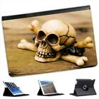 Skull & Crossbones Sat on A  Plank of Wood Folio Leather Case For iPad Mini