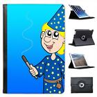 Blonde Hair Magician Holding Wand Making Magic Leather Case For iPad Mini