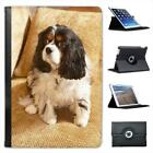 Cavalier King Charles Spaniel Dog Folio Leather Case For iPad Mini & Retina