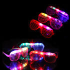 Flashing LED Light Up Slotted Shutter Shades Sunglasses Glow Party Rave Glasses