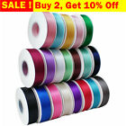 50M/25M Double Faced Sided Satin Ribbon Full Reel Crafts 3/6/10/15/25/38mm Width