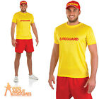 Adult Male Lifeguard Costume Mens Beach Surfing Patrol Fancy Dress Outfit New