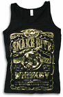 SnakeBite Old Style Pure Whiskey Label Biker Womens Soft-Style Vest Gold/Silver