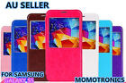 Premium View Window pull-up Leather Flip Case Cover For Samsung Galaxy S5 i9600
