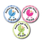 PERSONALISED  BABY SHOWER STICKERS FAVOURS/INVITES/CUTE