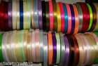"""25 yards Reel of 1/2"""" 12mm wide Single Satin Ribbon Choice of Colours"""
