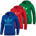 Adidas Originals Mens Trefoil Pullover Hoody Hoodie Blue Green Red S M L XL XXL