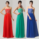 Elegant Strapless Wedding Ball Gown Formal Prom Party Evening Bridesmaid Dresses