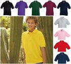 NEW BULK PACK OF 5 CHILD'S KIDS FRUIT OF THE LOOM POLO SHIRTS SCHOOL PE UNIFORM