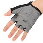 Best-selling Cycling Gloves Half Finger Bicycle Gel Silicone Fingerless US AB
