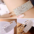 New Trendy Newest Women Bangle Wristband Bracelet Crystal Cuff Bling Lady Gift