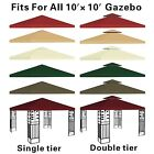 New Canopy Replacement Top 10x10' Patio Pavilion Gazebo Sunshade Polyester Cover