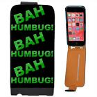 Bah Humbug! Scrooge Anti-Christmas Leather Flip Case for Apple iPhone 5C