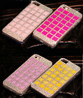 Luxury Bling Crystal Diamonds Cute Clear Hard Case Cover For Samsung Phone SCSF