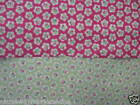 LIFESTYLE DAINTY FLOWER 100% COTTON HOT PINK/LIME NEW FABRIC QUILTING NOVELTY