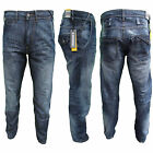 MISH MASH JEANS 1990 BLUE VICTOR MENS DROP CROTCH SLIM LEG DENIM RRP £65