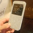 Fashion Super Bling Diamond View Leather Case Cover For Samsung Galaxy S5 I9600