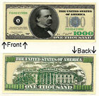 $1000 One Thousand Casino Dollars Bill Novelty Notes 1 5 25 50 100 500 1000