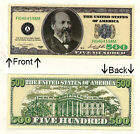 $500 Five Hundred Casino Dollars Bill Novelty Notes 1 5 25 50 100 500 or 1000