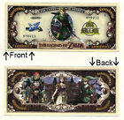 The legendary ZELDA -Link- video game Novelty Bill Notes 1 5 25 50 100 500 1000
