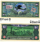 Six Cents U.S. Postal Airplane Novelty Bill Notes 1 5 25 50 100 500 or 1000