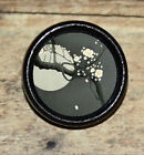 Full CHERRY BLOSSOM MOON Asian Altered Art Tie Tack or Ring or Brooch pin