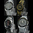 New Mens Luxury Fashion Stainless Steel Band Casual Sports Quartz Wrist Watches