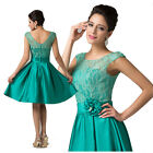 NEW OL Lady Casual Formal Party Gown Evening Prom Cocktail Dress Size 6~20 Green