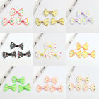 30Pcs Cute Bowknot Dots Hair Accessory Clothes Corsage Appliques Decor DIY
