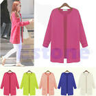 Vogue Womens Knitted Cardigan Outerwear Casual Long Loose Sweater Coat Tops