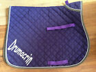 FULL - Cotton Numnah Saddle Pad with trim Personalised - Rhinegold