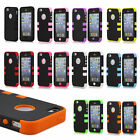 3 IN 1 Rugged Combo Case Hybrid Hard Defender Cover Case For iPhone 4/4S