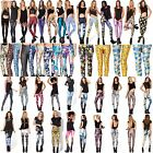 New Women 3D Print Pattern Leggings Stretchy Sexy Jeggings Pencil Tights Pants