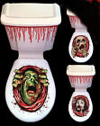 Halloween Toilet Seat Grabber Cover Party Decoration Horrid! FREE P&P