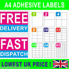 A4 Sticky Self Adhesive Peel Address Labels sheets - Inkjet Laser Copier Printer