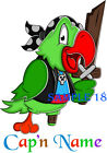 CUTE PIRATE IRON ON TRANSFER FOR T-SHIRTS, VESTS Etc, PERSONALISED FREE 03 - 01
