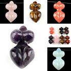 0820 Carved gemstone goddess,more material to select,pendant bead 1.8x0.9""