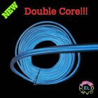 DOUBLE CORE  EL Wire - £6 p/m- 5m of Super Bright 3.2mm Diameter Twin Dual Cores