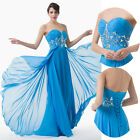 Chic Beaded Cocktail Party Formal Evening Ball Prom Wedding Gown Dress Size 6-20