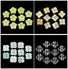 Carved Rock crystal flower pendant bead ,More material to select,10pcs