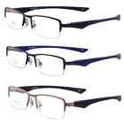 Men's Flexible Optical Half Rimless Eyeglass Frame Spectacles eyewear Rx SM-2400