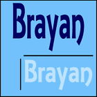 Brayan Boys Name Wall Sticker -18x40cm Interior Home Vinyl Decal Decor Sign