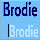 Brodie Boys Name Wall Sticker -18x40cm Interior Home Vinyl Decal Decor Sign
