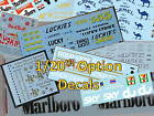 1:20 scale Formula 1 Option decal sets to suit Tamiya Ebbro Fujimi Studio 27 etc