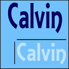 Calvin Boys Name Wall Sticker -18x40cm Interior Home Vinyl Decal Decor Sign