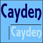 Cayden Boys Name Wall Sticker -18x40cm Interior Home Vinyl Decal Decor Sign