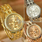 Gold Case Crystal Rhinestone Ladies Women Analog Quartz Wrist Watch Fashion New
