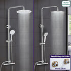 ROSA THERMOSTATIC EXPOSED SHOWER MIXER BATHROOM TWIN HEAD ROUND SQUARE BAR SET