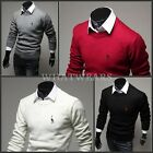 Mens Fashion Slim Fit Pullover Sweater Casual Round Neck Knitting Knitwear GBW